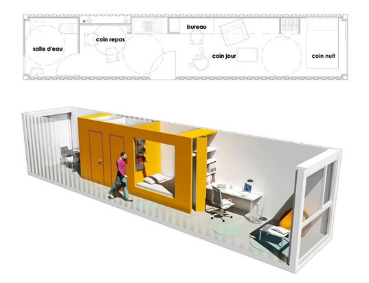 Leistbares wohnen diy container house grundriss ideen for Container haus deutschland